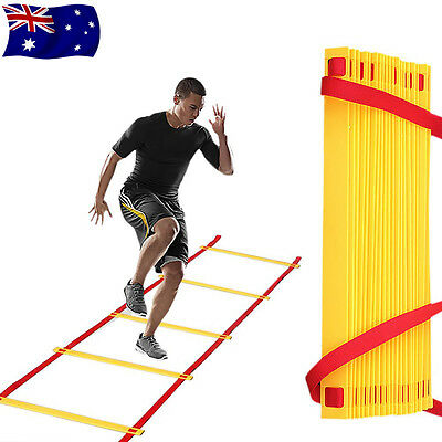 20 Rung 10m Rung Agility Ladder for Soccer Speed Football Fitness Feet Training