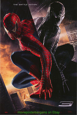 SPIDER-MAN 3 MOVIE POSTER Original DS 27x40 2nd Advance TOBE MAGUIRE SPIDERMAN