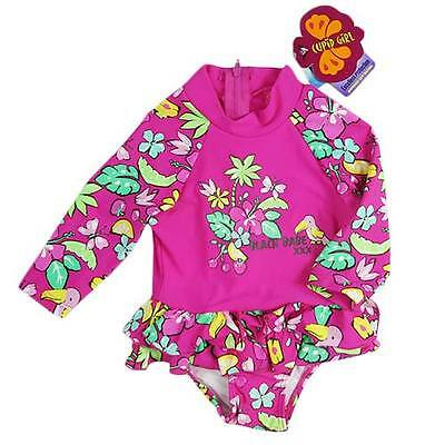 'Cupid Girl' Baby Girls Long Sleeved Swimsuit UPF 50+
