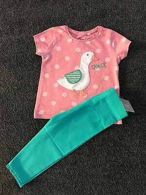 Bnwt Next Baby Girls Leggings & Duck Top Age 12-18 Months