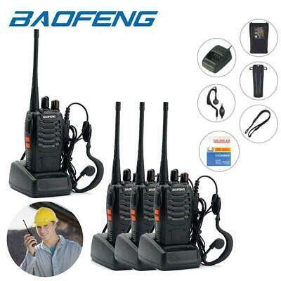 4 Pcs Baofeng BF-888S 400-470MHz USB Two-way Radio Walkie Talkie + Free Headsets