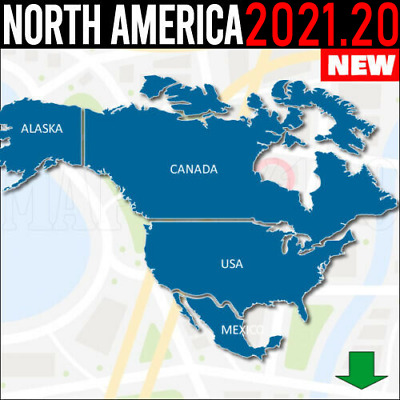 2018 North America map USCanadaMexicoCaribbeanMore for