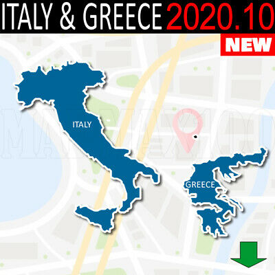 Map Of Italy Greece.Italy Greece Gps Map 2019 2 For Garmin Devices On Microsd 22 00