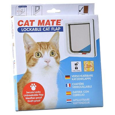 Cat Mate Lockable Pet Cat Door Flap White 304W