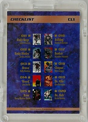 The Creators Universe - Checklist Cl1 - Cl5 - Komplett