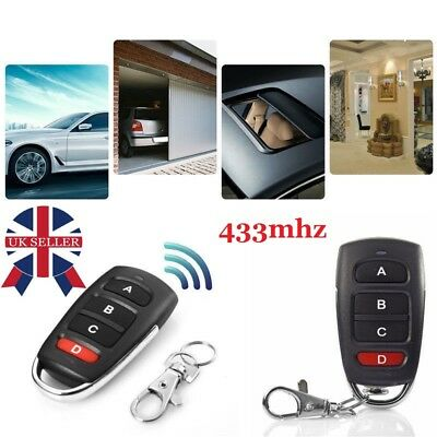 2PCS Universal Cloning Cloner 433mhz Electric Garage Door Remote Control Key Fob