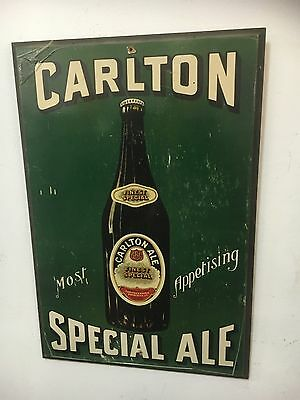 Vintage Carlton Special Ale Poster On Board