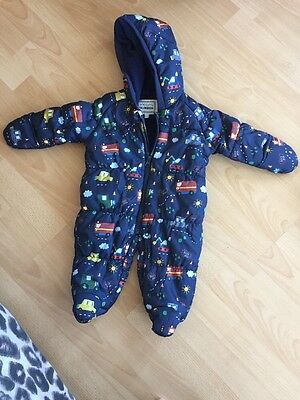 Baby Boys Snowsuit Blue Zoo 0-3 Months
