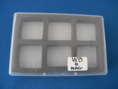 "Fly Box Clear Single Sided 6 Magnetic Compartments 3 3/4"" X 2 1/2"" X 1/2"""
