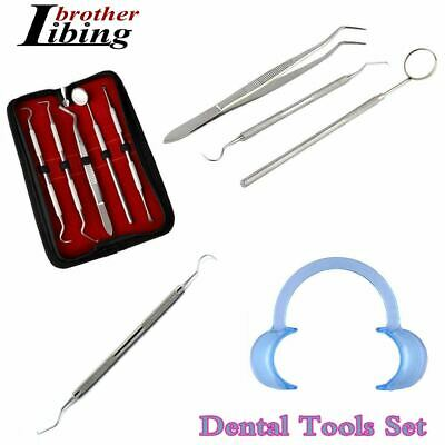 Dental Kit Tooth Scraper Mirror Scale Set Tartar Calculus Plaque Remover Tools