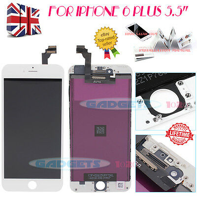 """For iPhone 6 Plus 5.5"""" White LCD Display Touch Screen Digitizer Replacement UK"""