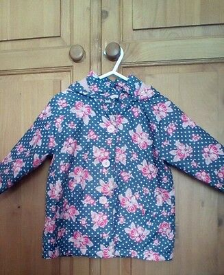 Little Girls Coat 12-18 Months, Lovely Light Material Shower Jacket