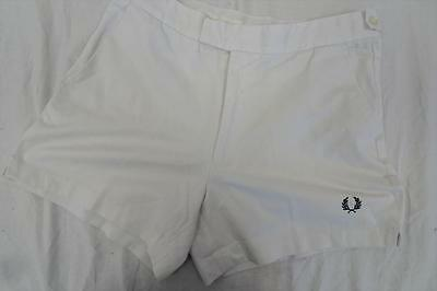 "Vintage FRED PERRY Tennis/Sports SHORTS    White    UK 32""         451 Y"
