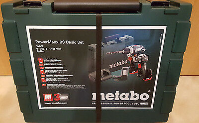 metabo akku bohrschrauber lampe powermaxx bs basic set 2x 10 8 v 2ah 600080530 eur 129 95. Black Bedroom Furniture Sets. Home Design Ideas