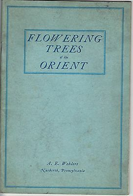 Vintage FLOWERING TREES Of The ORIENT - Mar 1928 - A.E. WOHLERT Narberth PA 52pg