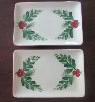 "Southern Living at Home ~ Gail Pittman 8"" Appetizer Plates ~ Christmas Memories"
