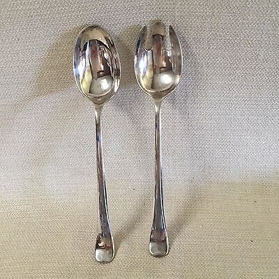 Vintage Gerity Silver Plate 2 Piece Serving Set Spoon & Fork G48
