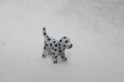 Figurine Animal Adorable Puppy Dalmatian Dog Miniature Ceramic Collectible Gift