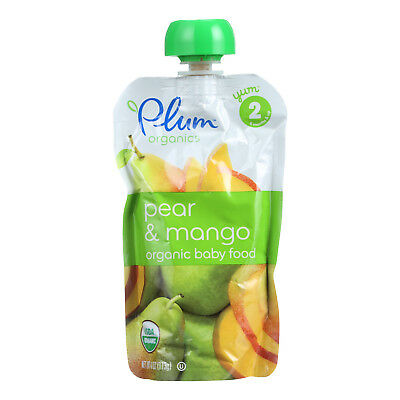 Plum Organics Baby Food - Organic - Pear and Mango - Stage 2 - 6 Months and Up