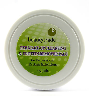 75 Eyelash Extensions Protein Make-Up Remover Pads