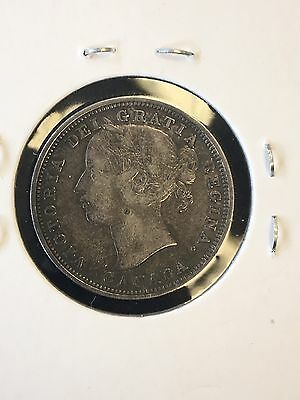 1858 Canada 20 Cents.(Re-Engraved 5) Nice Coin!
