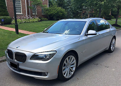 "2011 BMW 7-Series Loaded *MINT* BMW 750Li Xdrive AWD Silver/Black M Sport 19"" Rims Nav Loaded NO RESERVE"