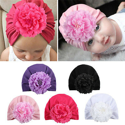 Newborn Baby Toddler Kids Boy Girl Cute Knitted Rose Flower Beanie Warm Hat Cap