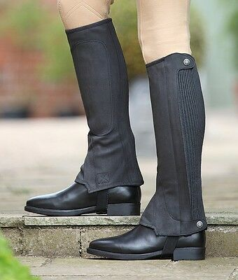 * Adult's Shires Amara Half Chaps - Black & Brown, All Sizes! *