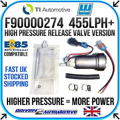 Walbro F90000274 455LPH High Flow Fuel Pump + Installation Kit E85 Compatible