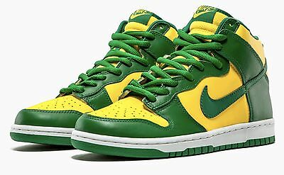 sports shoes 85053 6bf2d Ds Mens Nike Dunk High 2003 Brazil Worldcup 304717 731 Sz 9 Replacement Box  Air