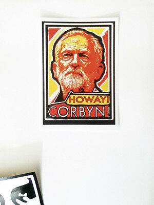 HOWAY! CORBYN! 5 Jeremy Corbyn Stickers. SUPPORT THE CAMPAIGN.