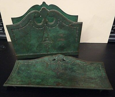 Antique Bradley & Hubbard 3 Pice Desk Set Brass Or Bronze