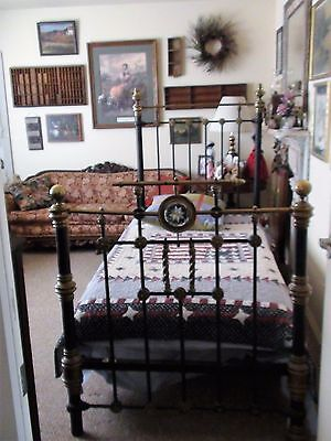 Antique Iron/brass Bed From Greece