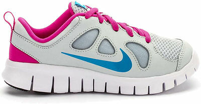 e91db9b657a7 New Girls Youth Nike Free Run 5 Running Shoes Style 580594-046 Platinum 198G
