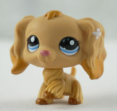 Littlest pet shop Figure Toy Yellow cocker spaniel dogs puppy Lps626
