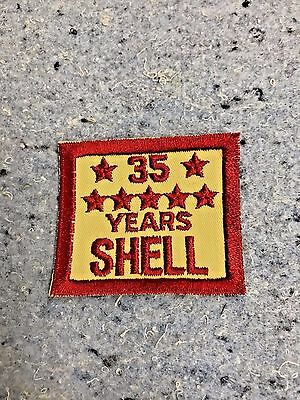 SHELL OIL GAS EMPLOYEE YEARS OF SERVICE PATCH NOS EMBLEM'S 35 Years Service