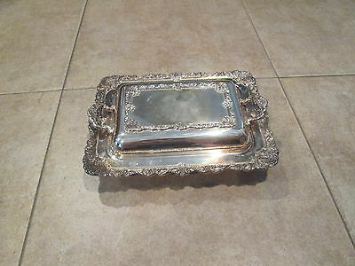 """Baroque by Wallace Silverplate 12-1/2"""" x 9-1/2"""" Overall Casserole & Lid 2 Pc"""