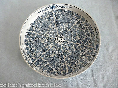 Chinese Blue And White Platter Blue Four Character Mark To The Base