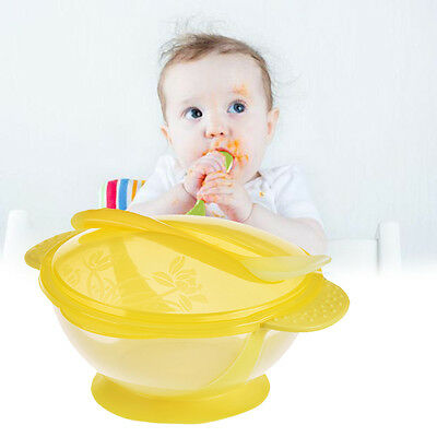 1 Set Baby Suction Bowl Temperature Colour Changing Spoon Feeding Tableware Kit