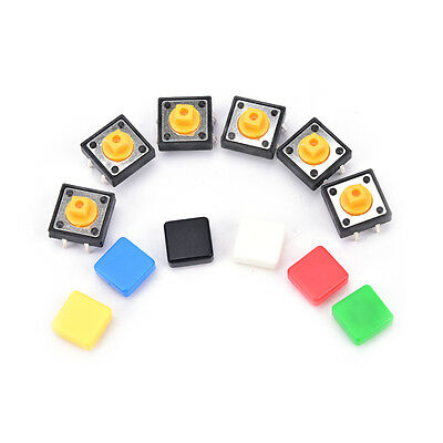 20PCS tactile push button switch momentary micro switch button + tact cap FO