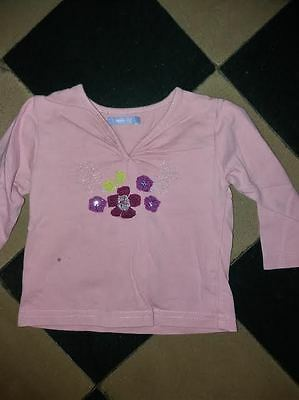 tee-shirt longues manches hema   fille taille 68cm