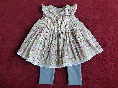 NEW GEORGE GIRLS TOP & LEGGINGS SET size 3/6 mths
