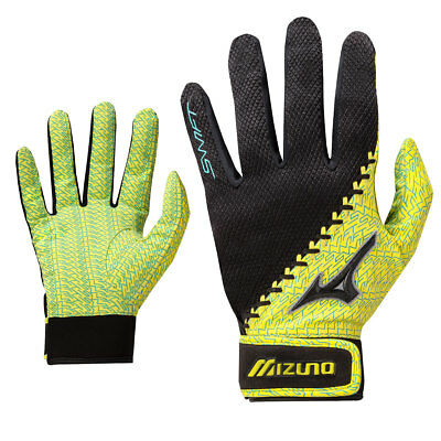 Mizuno Swift Women's Fastpitch Softball Batting Gloves - Yellow - XS
