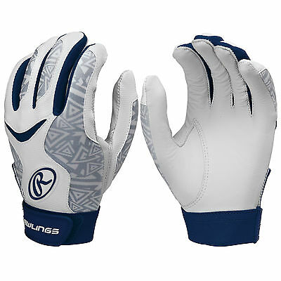 Rawlings Storm Women's Fastpitch Softball Batting Gloves - Navy - Medium
