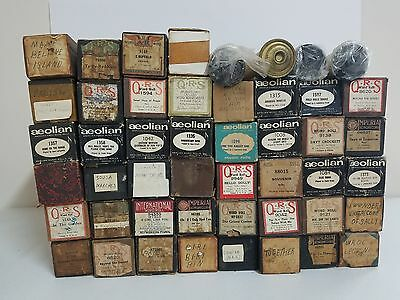Piano Player Music Rolls (Lot of 48 Rolls)