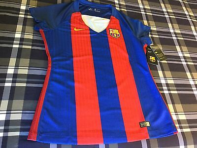 Barcelona FC Soccer Nike New W/Tag Large Size Women's Jersey Futbol Soccer