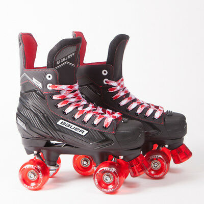 Bauer Quad Roller Skates - NS - 2018 Model - Red Ventros