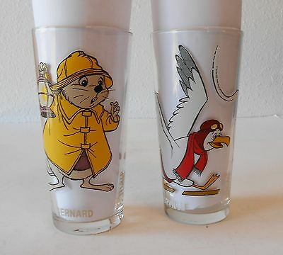 2-1977 Pepsi Walt Disney Productions Rescuers Glasses-Orville & Bernard, Thick