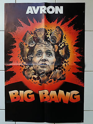Affiche spectacle Philippe Avron - Big Bang - années 80