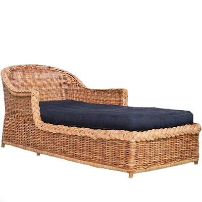 Woven Wicker Chaise Lounge Lot 383